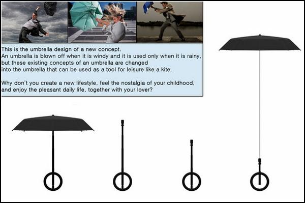 Воздушный змей из зонта
