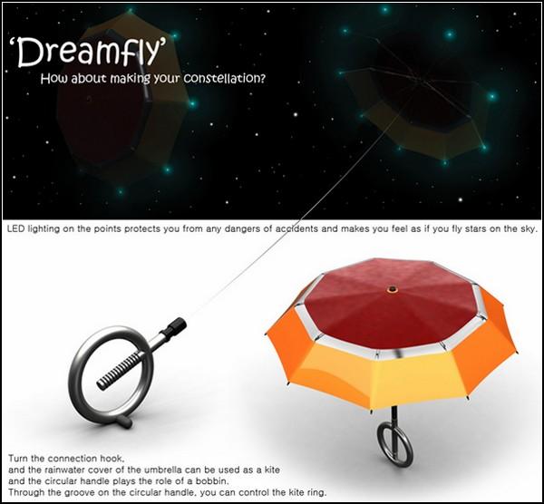 Dreamfly. Воздушный змей в форме зонтика