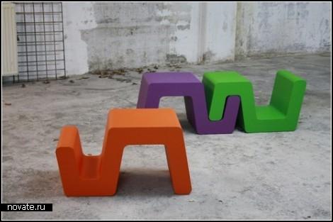 Проект модульных сидений Una от Tim Vinke