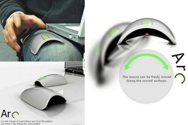Arc Mouse, мышка для работы на коленке