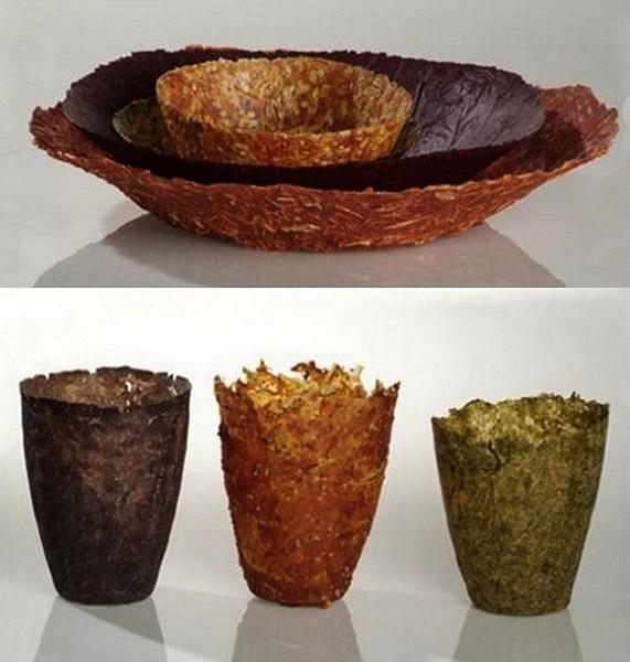 Съедобная посуда из прессованых овощей