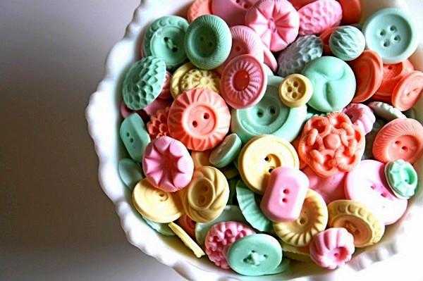 Съедобные пуговицы и бусины - как конфетки
