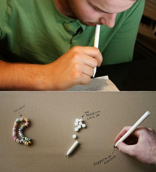 Съедобный карандаш из лакрицы