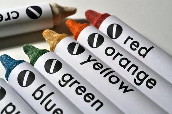 Цветные карандаши из прессованных сушеных овощей и фруктов