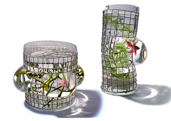 Аквариумы в клетке от Ванессы Митрани (Vanessa Mitrani)