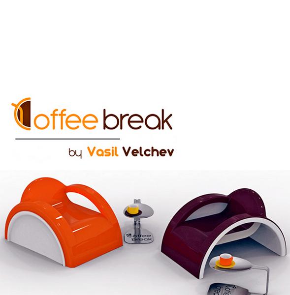 Coffee Break: дизайнерская мебель для кофеманов от Василия Велчева (Vasil Velchev)