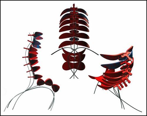Vertebrae Chair. Концептуальный ортопедический стул-позвоночник