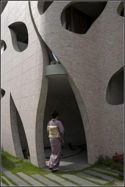Необычный *лиственный* дом Villa Saitan в Киото