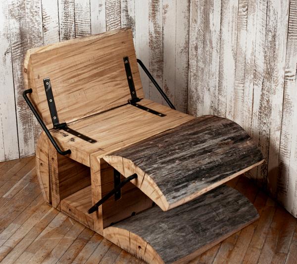 Кресло из бревна дерева