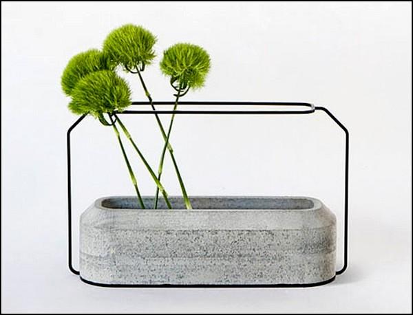 Weight Vases, бетонные вазы для цветов из бетонных джунглей