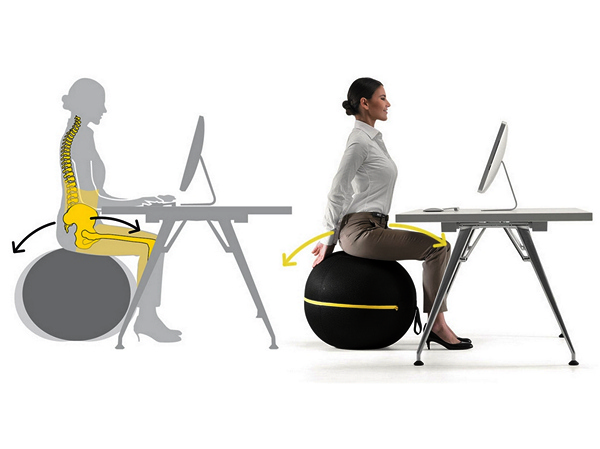 Кресло-тренажер Wellness Ball chair для людей с сидячей ...