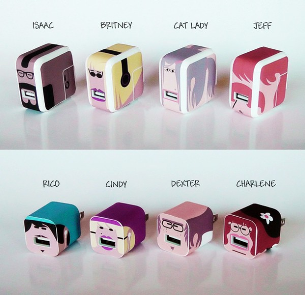 Whooz: набор виниловых наклеек для идентификации аксессуаров от Apple