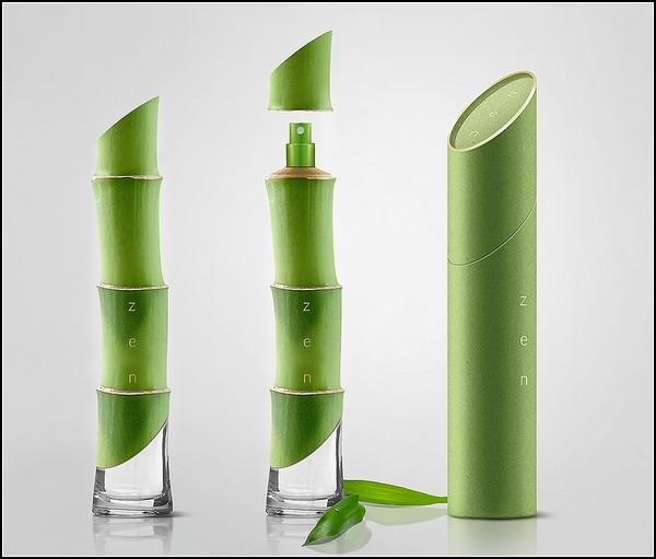 Концептуальные духи Zen Perfumes в флакончике в виде бамбукового стебля