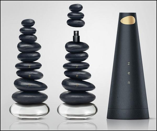 Духи Zen Perfumes, упаковка в виде морской гальки