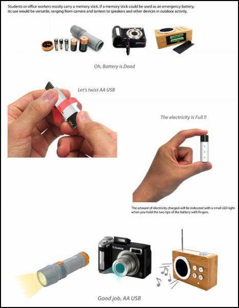 AA USB: и флешка, и батарейка в одном устройстве