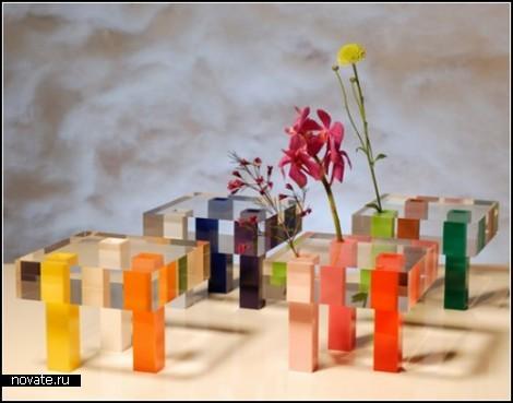 Разноцветные мебель и аксессуары из акрила