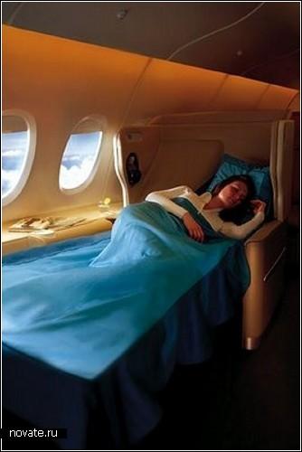 Интерьер салона на Emirates' A380s