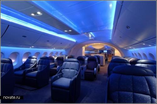 Интерьер салона Boeing 787