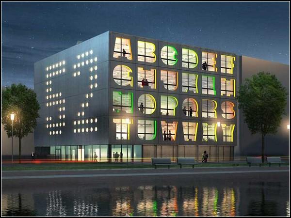 Проект здания-алфавита Alphabet Building в Амстердаме