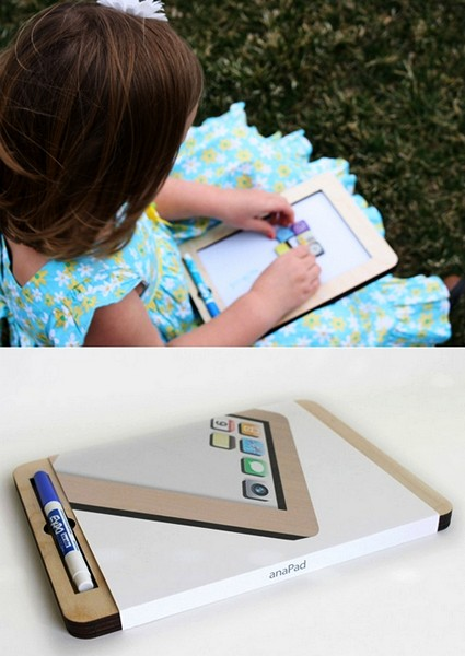 Первые гаджеты для детей, деревянная доска для рисования anaPad