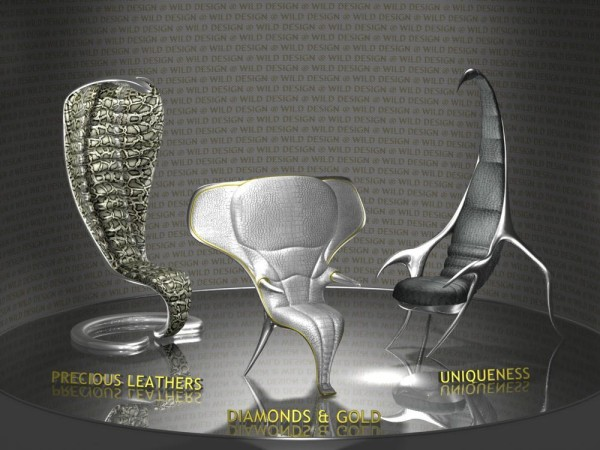 Экзотическая коллекция *звериной* мебели Zoomorphic Collection