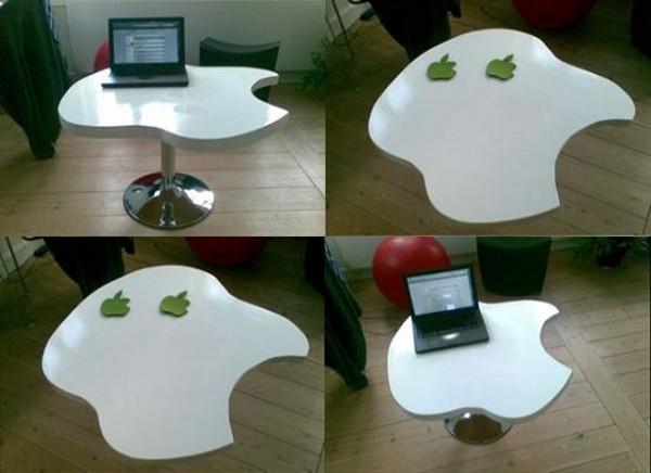 Стол в виде логотипа Apple