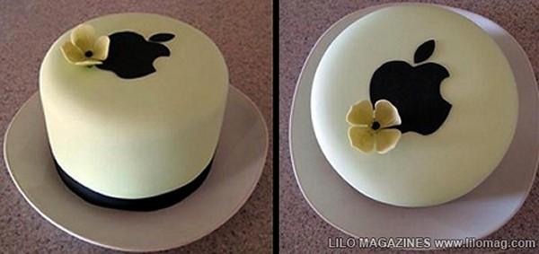 Свадебный торт с логотипом Apple
