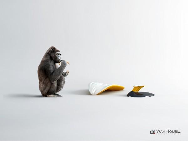 Концептуальное кресло  Zjedzony в виде банана