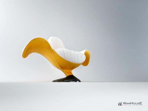 Кресло  Zjedzony в виде почищенного банана