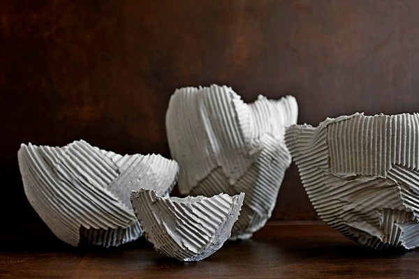 Посуда Сartoccio из картонного фарфора. Проект от Paola Paronetto