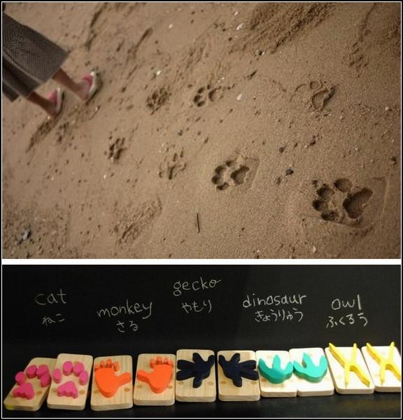 Сандалии, которые оставляют на песке звериные следы