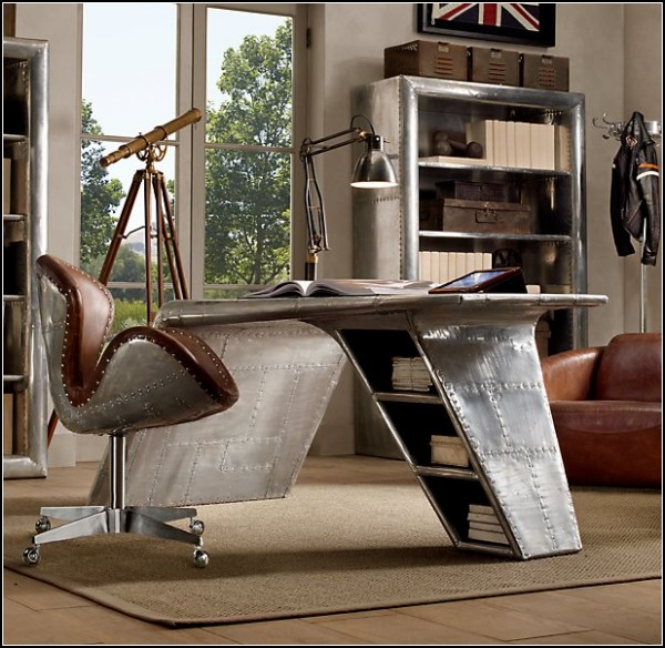 Стол Aviator wing desk, имитация крыла самолета-истребителя