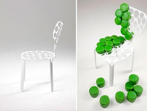 Необычный стул-мозаика bOne Chair
