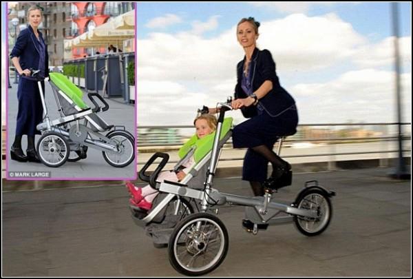 Необычная коляска-велосипед