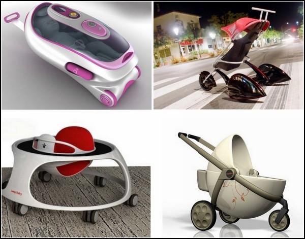 Обзор необычных детских колясок