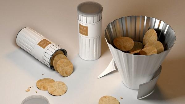 Упаковка Bloom chips, она же - посуда для чипсов