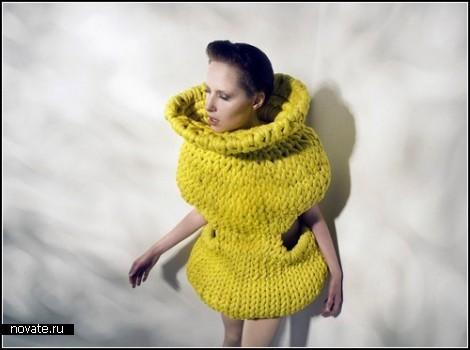 Вязаные *ракушки* в fashion-проекте Unconventional Body Objects