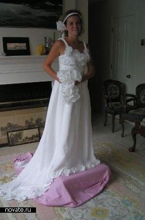 Бело-розовое платье, достойное внимания