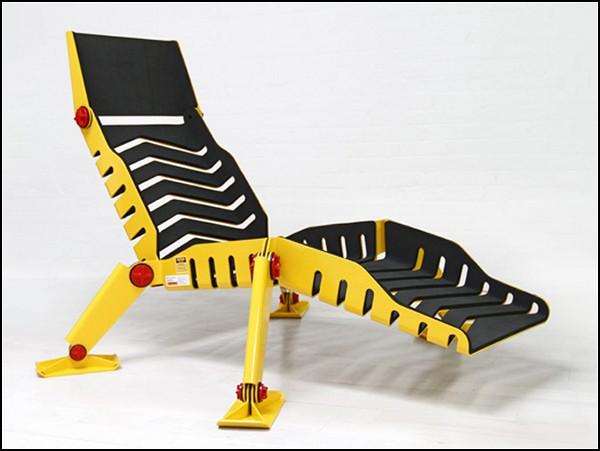Творение бульдозерной музы - шезлонг Bulldozer Lounge Chair