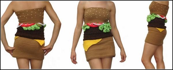 Платье-гамбургер