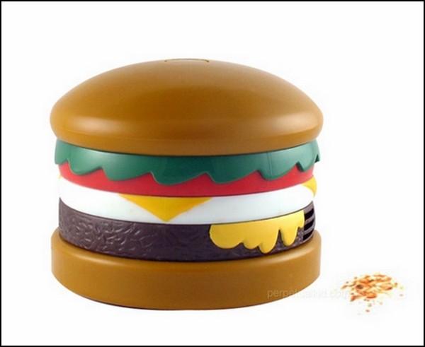 Вакуумный мини-пылесос в виде гамбургера