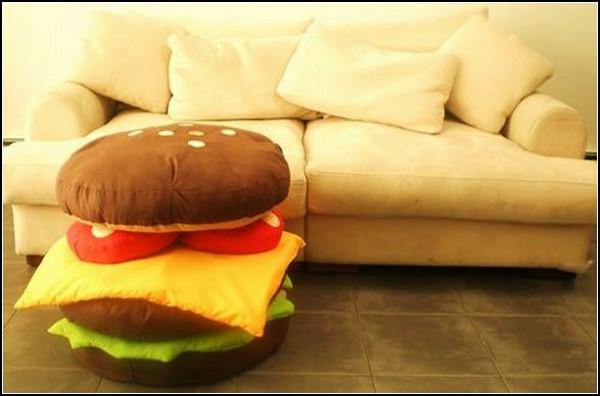 Подушки в виде гамбургера