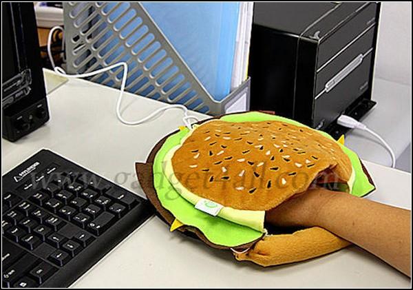 Коврик для мышки с *карманом* в виде гамбургера