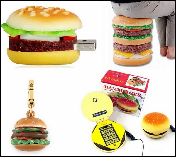 Обзор предметов в виде гамбургера