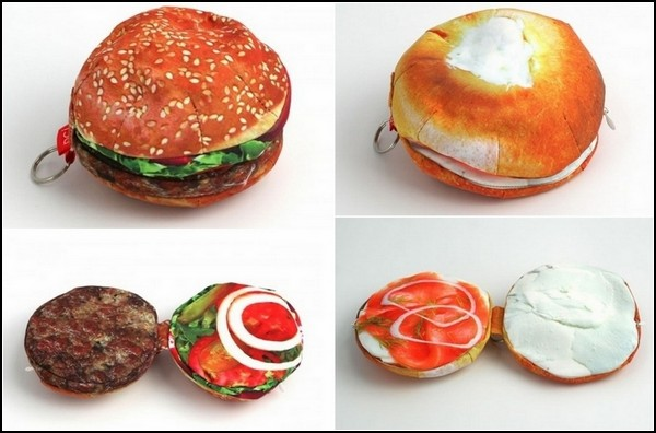 Yummy Pockets. Бумажники для денег в виде бургеров и пончиков