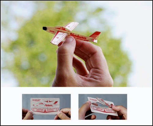 Визитка-самолет