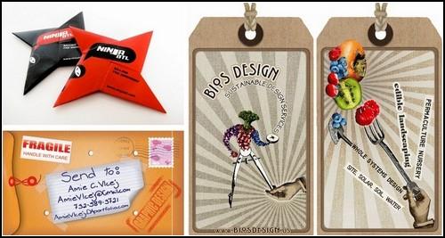 Оригинальные дизайнерские визитки. Обзор