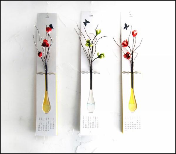 Календарь с вазой от Nothing Design Group.