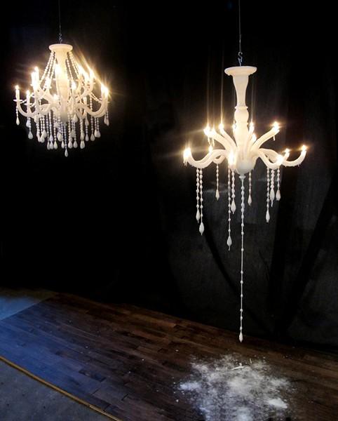 Candelier: огромная восковая свеча из свечей. Необычная люстра от Takeshi Miyakawa