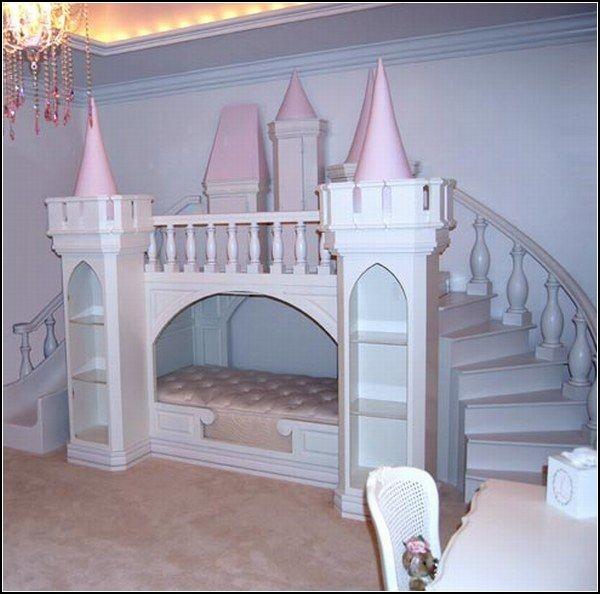 Необычные детские комнаты в виде замка.